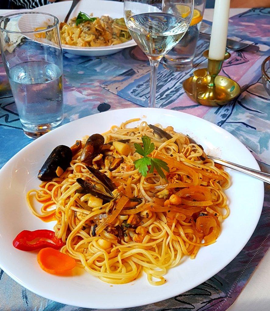 Spaghetti Frutti di Mare im Ristorante Pizzeria Da Leo