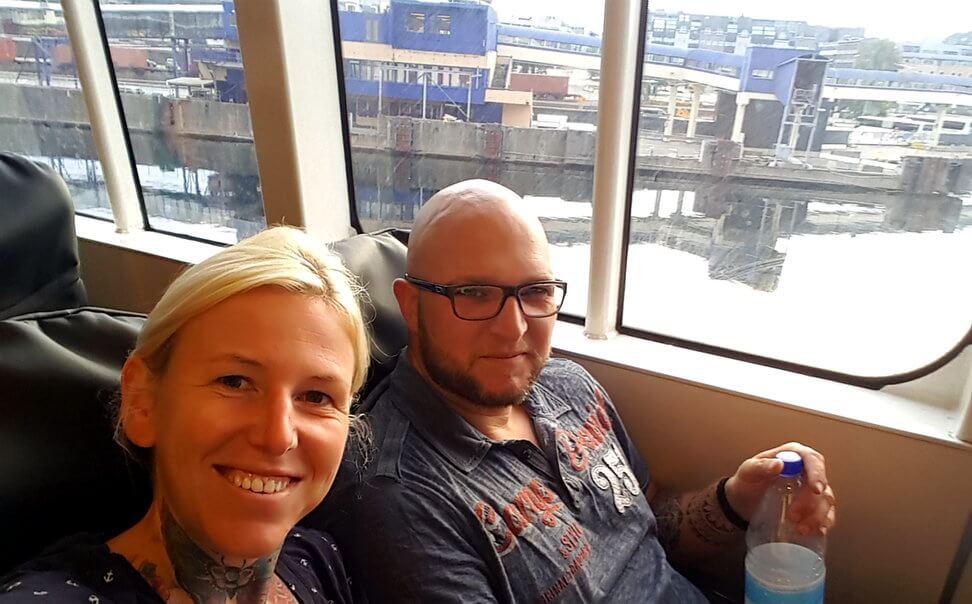 mit der Fähre von Norwegen nach Dänemark
