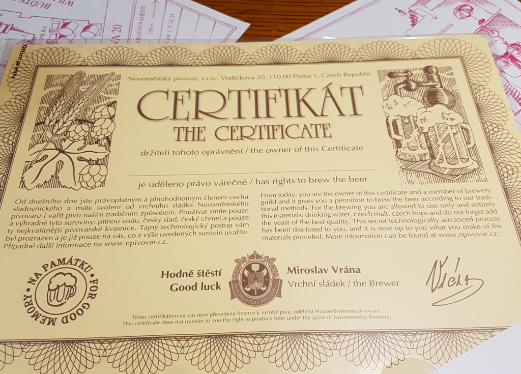 Bierbrau Zertifikat