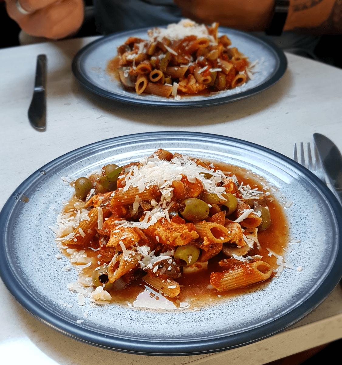 Pasta-Hähnchen-Auflauf